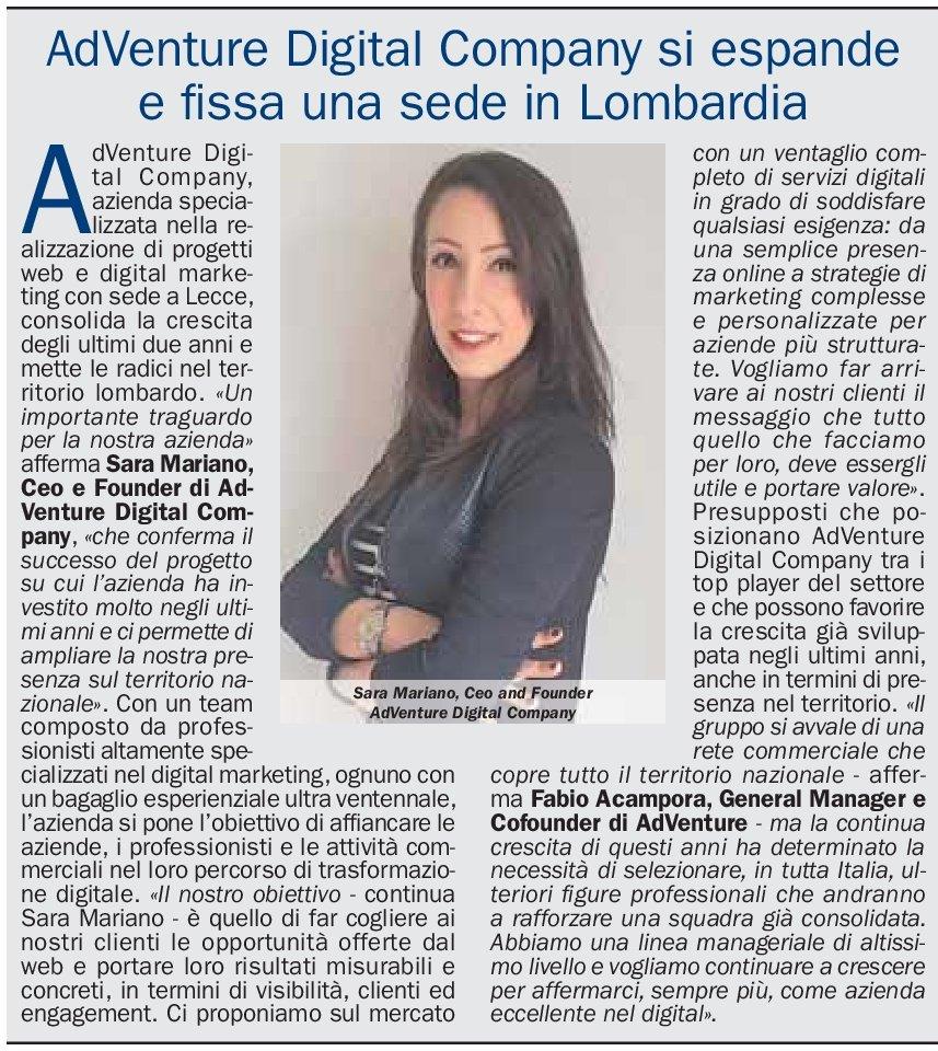 Sara Mariano Milano Finanza